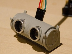 hc-sr04 casing angle adjustable cradle gadgets arduino distance sensor electronics hc-sr04 mount hc-sr04 stand microcontroller range finder robot robotics ultrasonic distance ultrasonic sensor