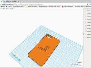 boeing 737 iphone 55s caso 3d impresión