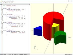 openscad wedge modulelibrary 3d printing openscad library openscad module openscad modules openscad script pie slice radius