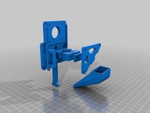 newhot end mount generato-titan-v6-servo 3d printer parts customized