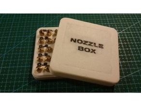 nozzle box 3d printer accessories fabrikator fabrikator mini mini fabrikator nozzlebox nozzles nozzle holder nozzle rack tinyboy turnigy fabrikator