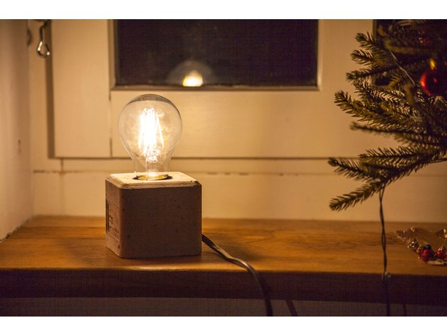 concrete lamp 3d printed