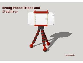 bandé de téléphone pour trépied stabilisateur de la caméra téléphone stabilisateur téléphone de la monture de trépied remixchallenge
