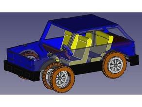 coche miniatura modelo a&ntildeos de los 80 vehículos coche maqueta juguete
