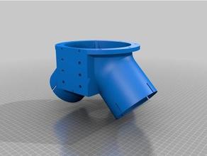 convogliatore aria per aspiratore d15cm per fresa cnc cnika o altre machine tools cnc cnc machine cnika codi codi-3d codi3d convogliatore fresa stebo vacuum vacuum adapter