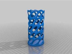 voronoi pencil holder 3d printing 3d voronoi pencil cup pencil holder spiral vase twisted vase voronoi voronoi design voronoi style voronoi vase