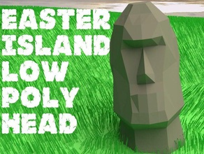 easter island low poly head models easter egg head easter head easter island head easter island head low-poly low poly low polygon