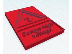 danger high voltage symbol 3d printers danger high voltage high voltage warning high voltage voltage warning high voltage