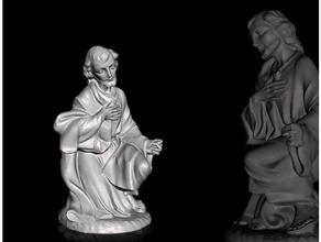 giuseppe - scansione statuine presepio di natale scans & replicas statuettes chiesa christmas crib ges giuseppe natale presepio sacro statua statuine