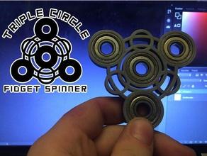 triple circle fidget spinner gadgets edc edc spinner edc toy spinner triple triple spinner