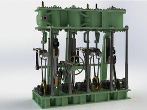 triple expansion marine steam engine vehicles crank shaft marine steam engine steam engine triple expansion vertical steam engine