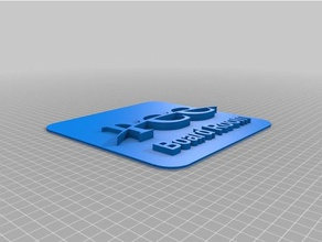 paola chamber commerce thin square plate 3d printing