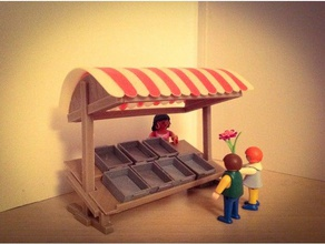 medieval market stall playmobil toy & game accessories playmobil
