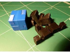 burr puzzle small cube 4pc puzzles 3d puzzle burr burr puzzle cube cube puzzle puzzle