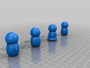people 3d printing city doll family house people tinkercad torus people toy