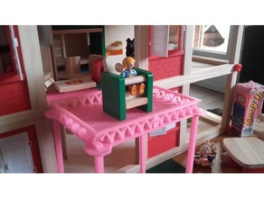 terrace remix toys & games balcony decoration doll furniture house modern playmobil terrace terrace overlooking