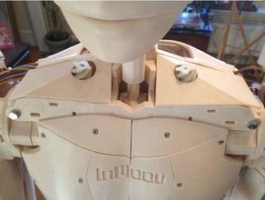inmoov top shoulder omoplate covers robotics covers inmoov inmoov omoplate inmoov shoulder inmoov modifications