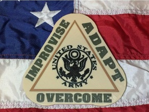 improvise adapt overcome signs & logos memorial adapt air force army asllexicon clint clint eastwood eastwood gift improvise improvised joint forces korean korean air force korean army korean joint forces korean marines korean military korean navy korean war  marine marines marine corps memorial day military mmu multi multi material multi material print multi-color multi-part navy olsen overcome present props prusa prusa multi material prusa mmu south korean south korean military tinkercad todd todd olsen toy united states navy us joint forces us air force us army us military us navy veteran veterans veterans day