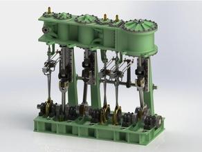 triple expansion marine steam engine update 7 engineering cylinder head engine marine marine engine marine steam engine steam steam engine