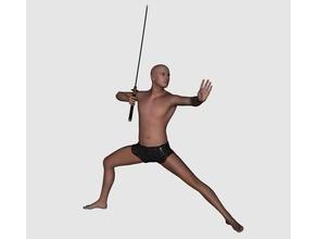 caccia - schwertk mpfer persone kaempfer katana krieger figura maschile statua guerriero