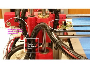 hictop left side x & z axis lift screw 3d printer parts hictop hictop cable hictop tensioner hictop x tensioner hictop prusa i3