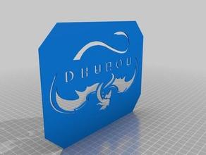 spacex dragon logo stencil - remix m3d micro signs & logos dragon logo m3d m3dmicro m3d micro m3d print remix remixchallenge spacex stencil