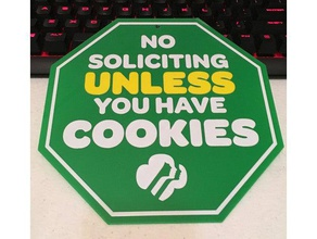 no soliciting girl scout cookies sign signs & logos cookie cookies door sign gift gifts girl scout cookies girl scouts girl scout girl scouting girl scout logo household no soliciting no solicitors sign signs thin mints