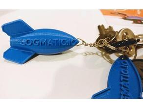 porte clef logmaticio keychains fusee logmaticio logo porte-clefs porte cle rocket