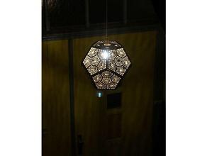 dodecaedro ombra lampada arredamento di boemia la lampada lasercut di taglio laser