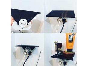 tablette multiprise triple shelf triple plug household bathroom shelf multiprise plug salle bain shelf tablette