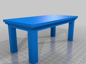 dolls house basic table 1 12th scale toys & games 1 12th scale dolls house doll furniture
