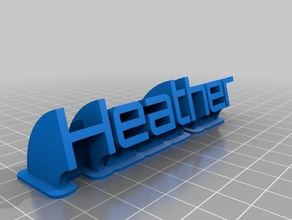 heather sweeping name plate office customized