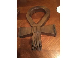 giant ankh lost tv show props ankh giant lost wood