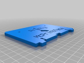 printy mcprintface replicator 1 backplate 3d printer accessories customized