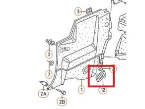 corrado lower trim plate seat belt rear 535 868 523 automotive