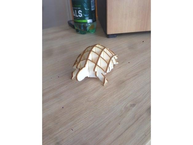laser cut turtle 2d art l