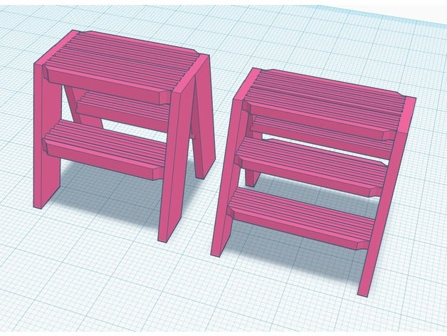 step stool model furnitur