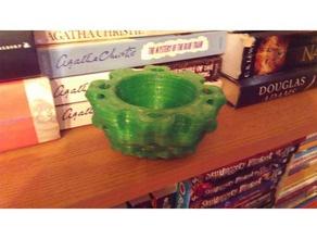 isosurface burr bowl math art bowl isosurface nature