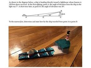 boat lighthouse trig problem math geometry illustrated math math regents trigonometry word problem