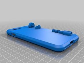 iphone 7plus caso w adaptador auxiliar titular teléfono móvil