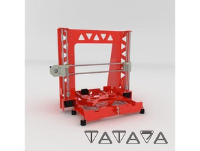 tatara a8 steel frame - anet a8 swap - v100 3d printers anet anet a8 anet a8 mods anet a8 steel frame anet a8 upgrade i3 steel prusa i3 steel prusa steel steel frame tatara