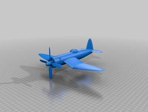 ww2 avión f4u corsair La impresión en 3d