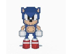 pixelated sonic sonic cd models 3d pixelated clasic nintendo sega sonic sonic cd sonic hedgehog
