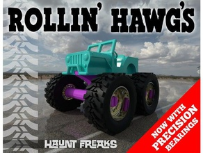 rollin' hawgs mini monster truck re-re-re-mix mechanical toys 4x4 ball bearing bearing ground hawgs jeep mini-monster monster truck roller suspension toy willys