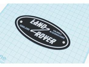 land rover solihull warwickshire england badge automotive badge car logo emblems land rover land rover series name plate