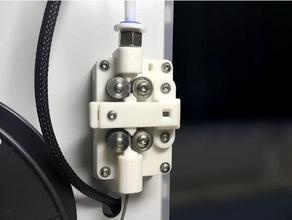 b2d extruder - strong silent bowden extruder 3d printer extruders belt belted extruder bowden bowden extruder dual extruder extruder feeder gear ultimaker ultimaker 2