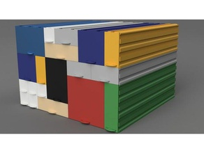 stackable drawers variable length containers box container drawer modular organization stackable variable-length