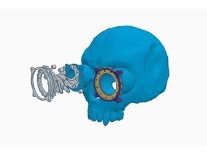 steampunk skull helmet v2 costume 3d print 3d printer cogs gear halloween helmet human body human skull iris mask scary skull spooky steampunk steampunk gear steampunk goggle steampunk prop steampunk skull