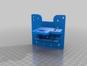 modular carriage 40x20 rails - tarantula plate 3d printer parts 40x20mm bltouch bltouch mount carriage modular carriage tarantula tevo tevo tarantula x-carriage x carriage