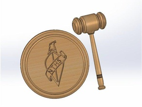 gavel plate nths emblem hand tools gavel judge gavel